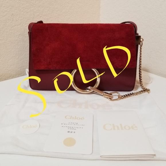 Chloe Handbags - NWT Chloe Faye Small Suede Shoulder Bag Plum